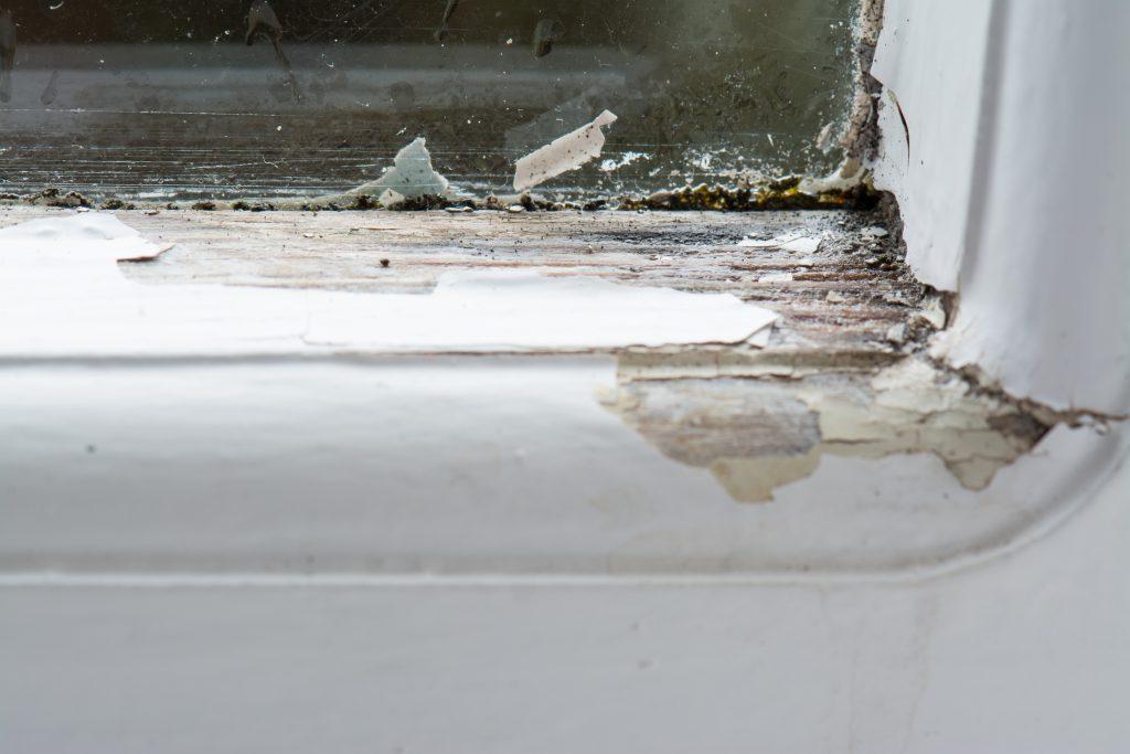 wood window needing to be replaced