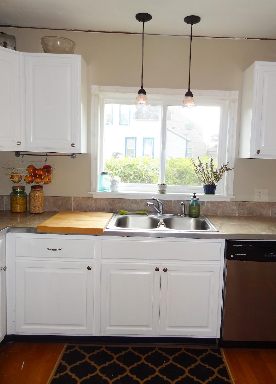 fresh clean kitchen window